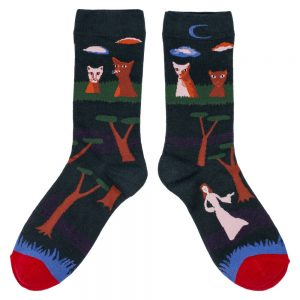 Socks Night Cats Made With Cotton & Spandex by JOE COOL