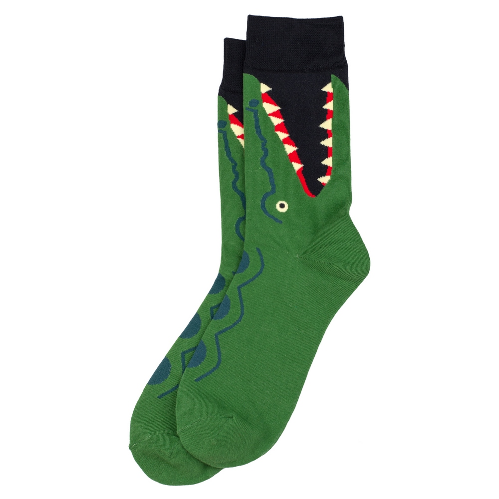 Socks Snappy Crocodile Made With Cotton & Spandex by JOE COOL