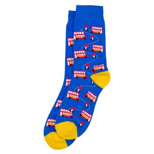 Socks London Red Bus Made With Cotton & Spandex by JOE COOL