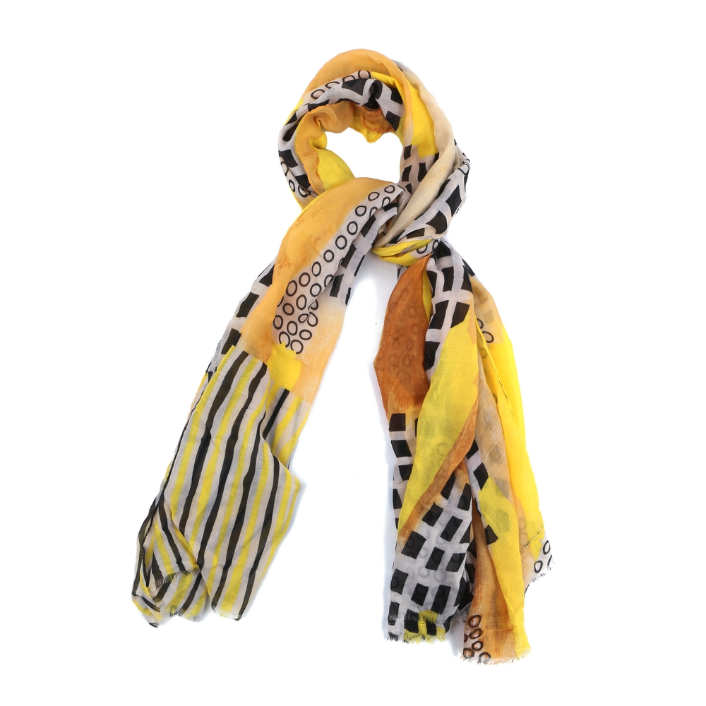 Scarf Bold Square Print Made With Viscose by JOE COOL