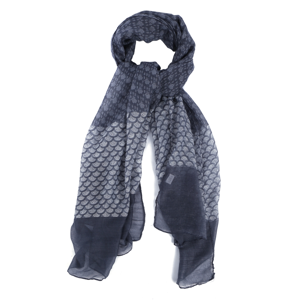 Scarf Japanese Wave Made With Polyester by JOE COOL