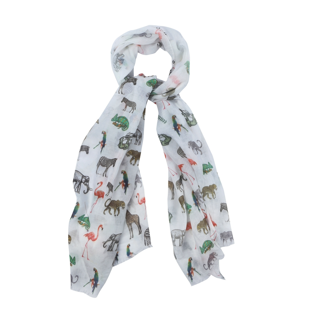 Scarf Animal Parade Made With Polyester & Cotton by JOE COOL