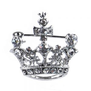 Brooch Aurora Borealis Crown Made With Crystal Glass & Tin Alloy by JOE COOL