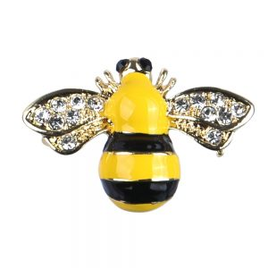 Brooch Bee Made With Crystal Glass & Enamel by JOE COOL