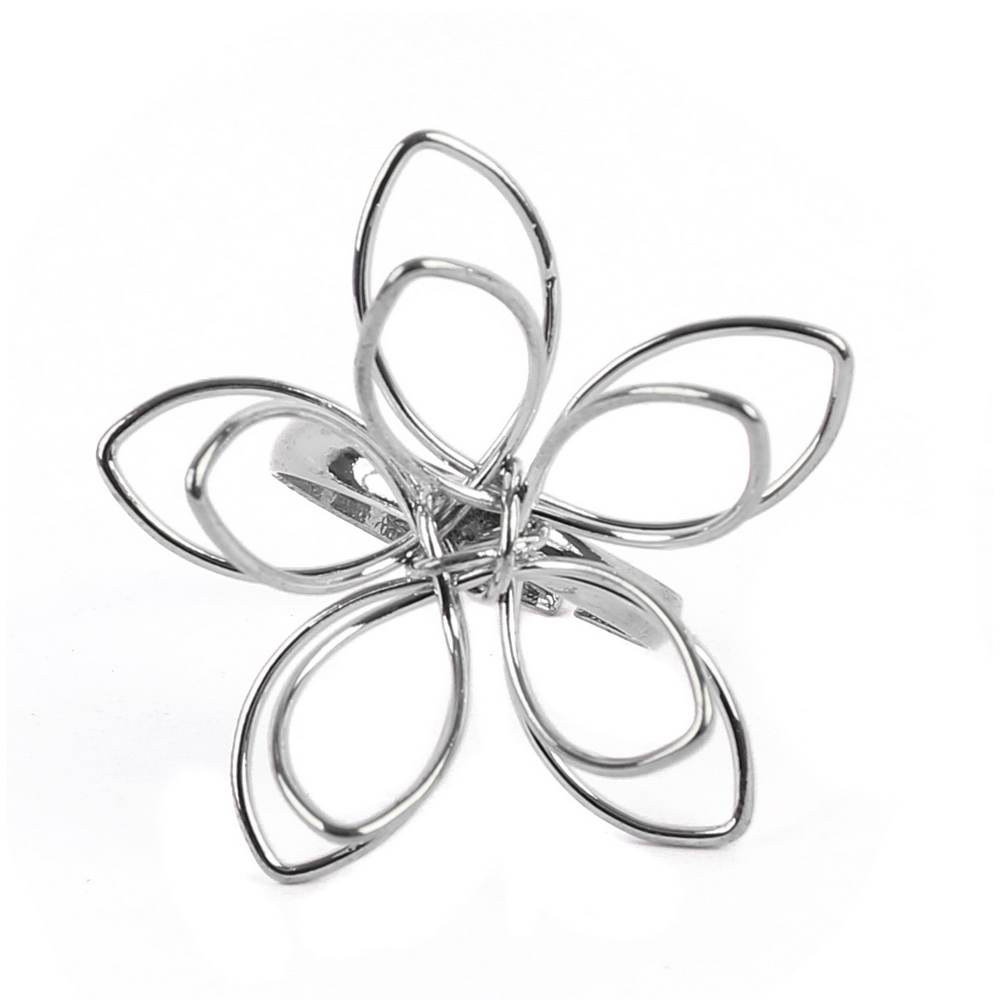 Ring Flower Outline Made With Iron by JOE COOL