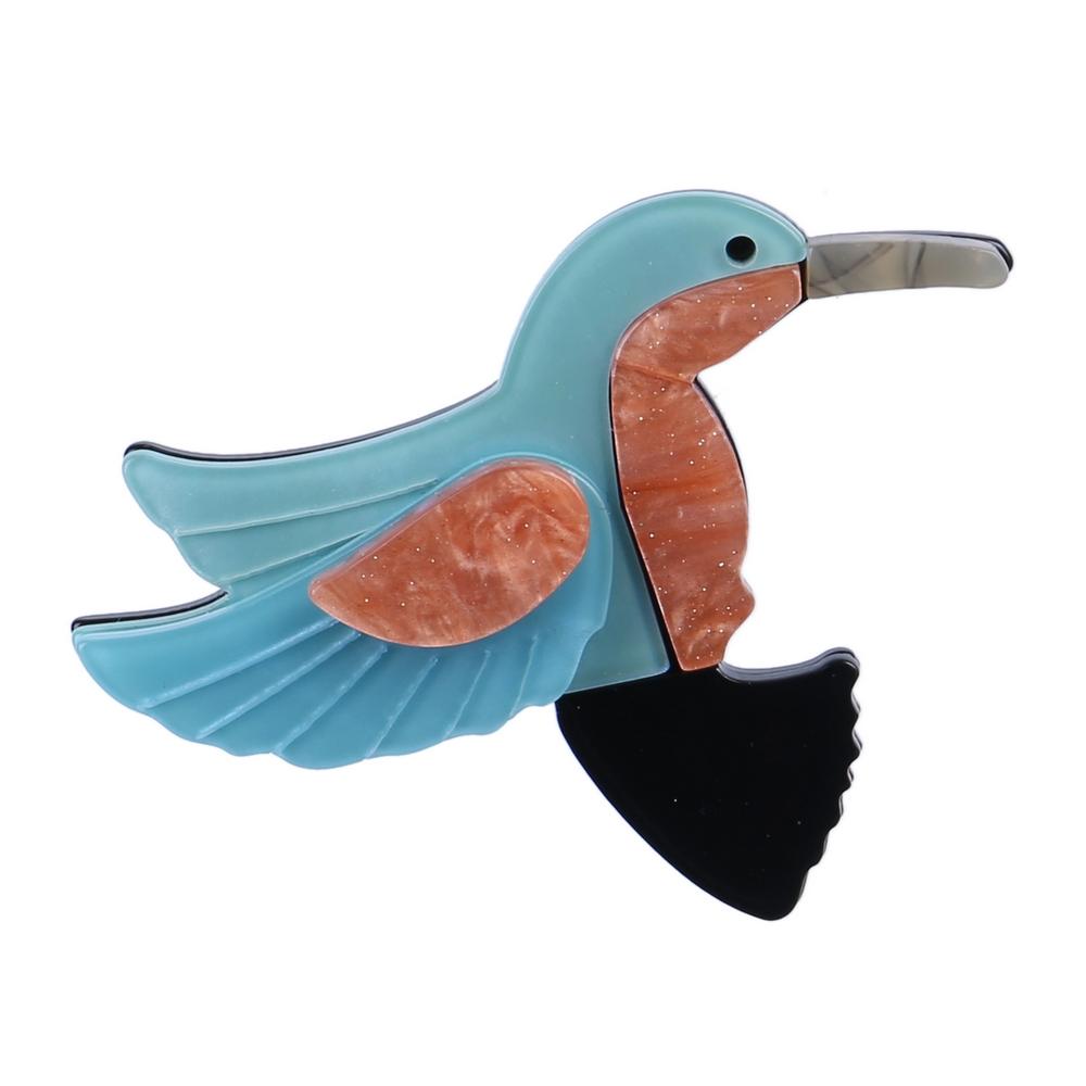 Brooch Hummingbird Pearlised Made With Acrylic by JOE COOL