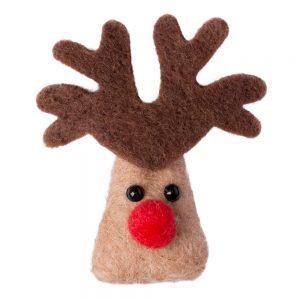 Clutch Pin Brooch Reindeer Made With Felt by JOE COOL
