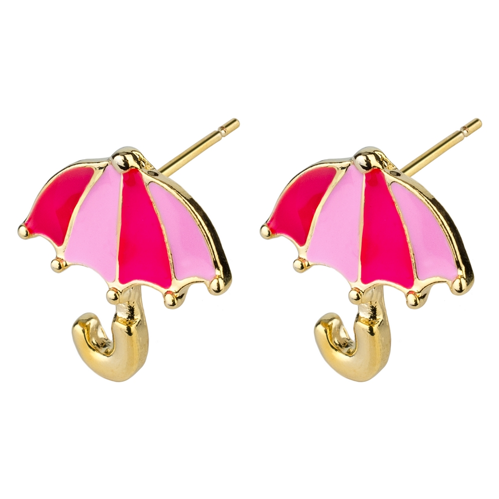 Stud Earring Umbrellas Made With Enamel & Tin Alloy by JOE COOL