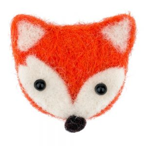 Clutch Pin Brooch Fox Made With Felt by JOE COOL