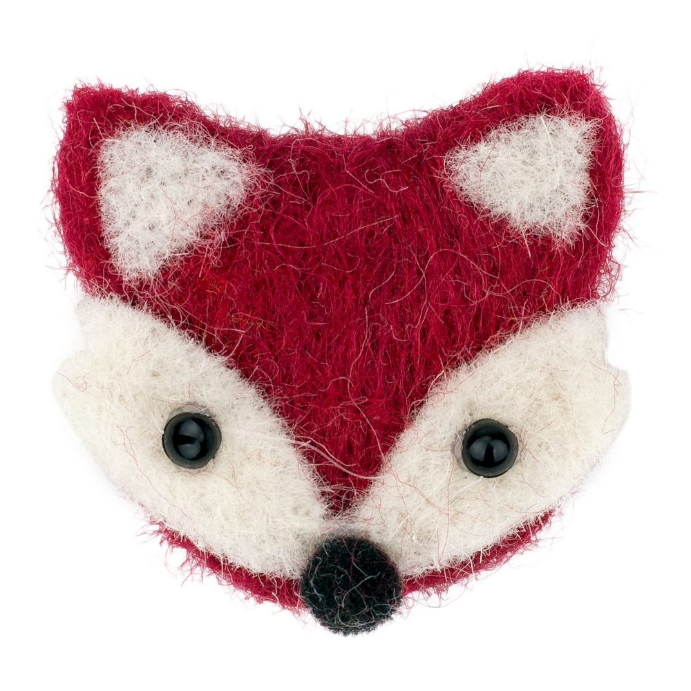 Clutch Pin Brooch Fox Made With Felt by JOE COOL