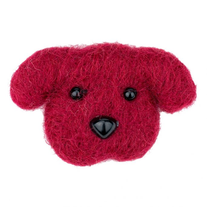 Clutch Pin Brooch Dog Made With Felt by JOE COOL