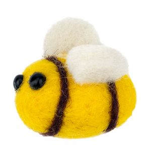 Clutch Pin Brooch Bee Made With Felt by JOE COOL