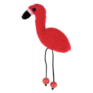 Clutch Pin Brooch Flame-colored Flamingo Made With Felt by JOE COOL