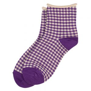 Socks Gingham Made With Cotton & Spandex by JOE COOL