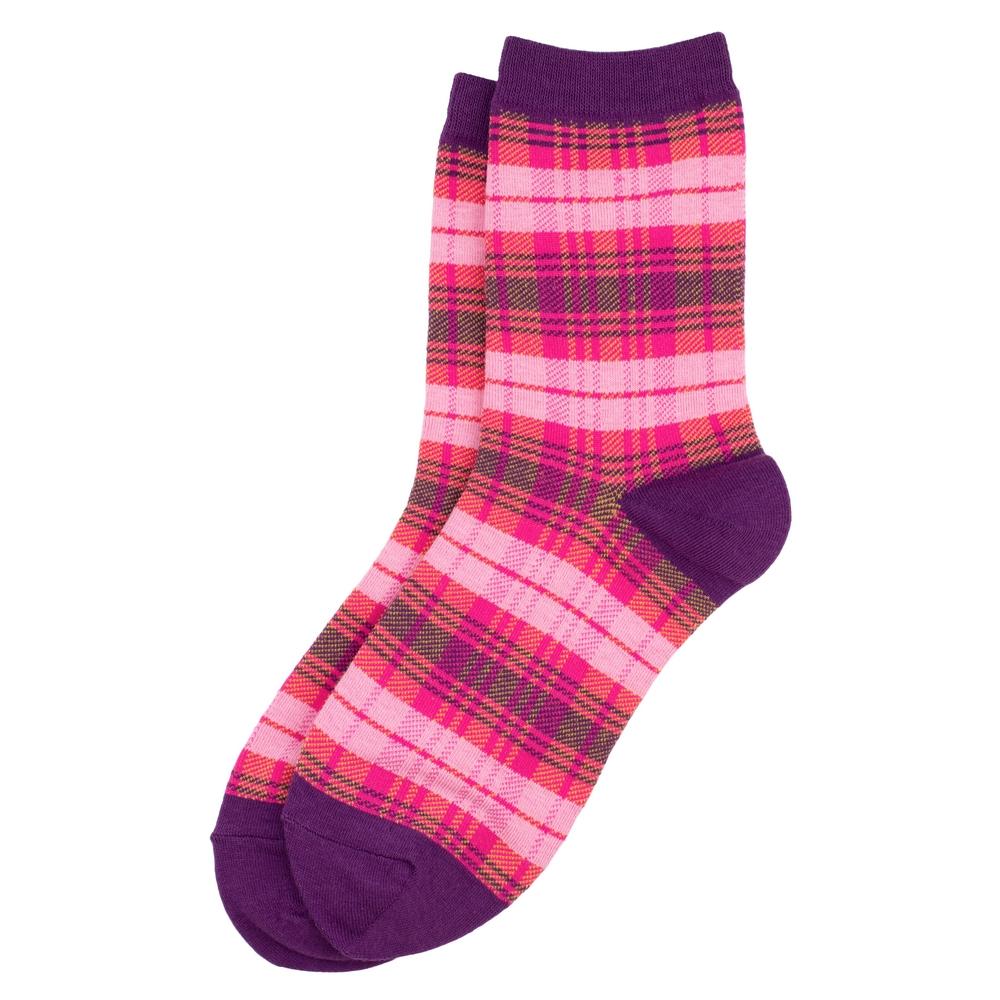 Socks Tartan Mix Made With Cotton & Spandex by JOE COOL