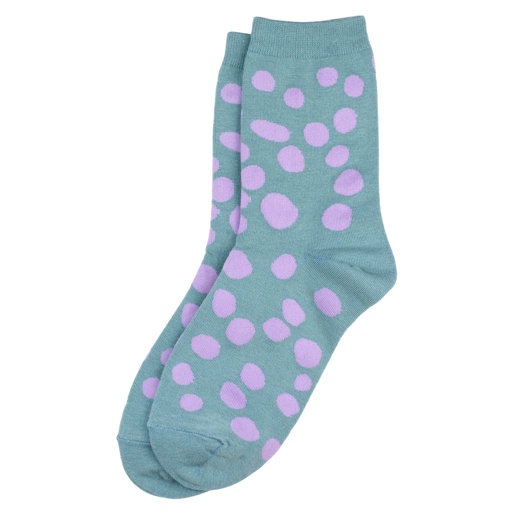 Socks Dalmatian Spot Made With Cotton & Spandex by JOE COOL