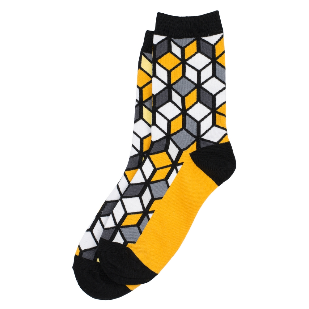 Socks Illusion Cube Made With Cotton & Spandex by JOE COOL