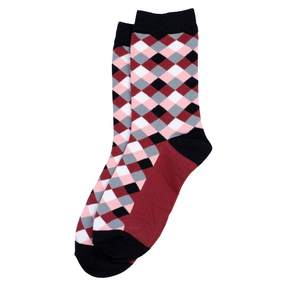 Socks Checker Made With Cotton & Spandex by JOE COOL