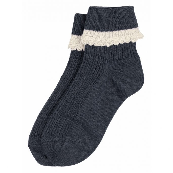 Socks Lace Frill Made With Cotton & Spandex by JOE COOL