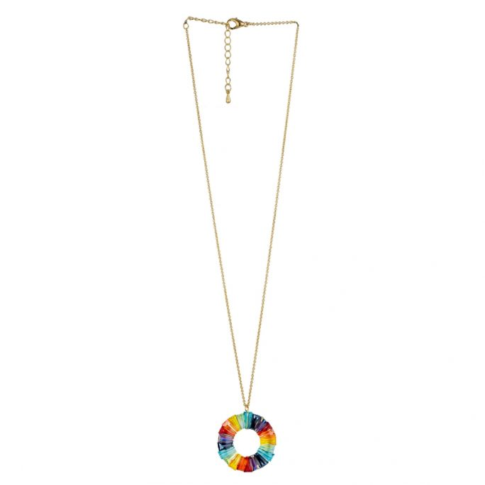 Necklace Rainbow Circle Made With Tin Alloy by JOE COOL