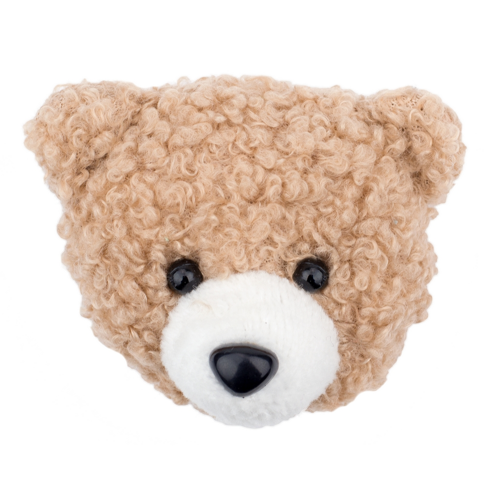 Brooch Teddy Bear Face Made With Cotton by JOE COOL