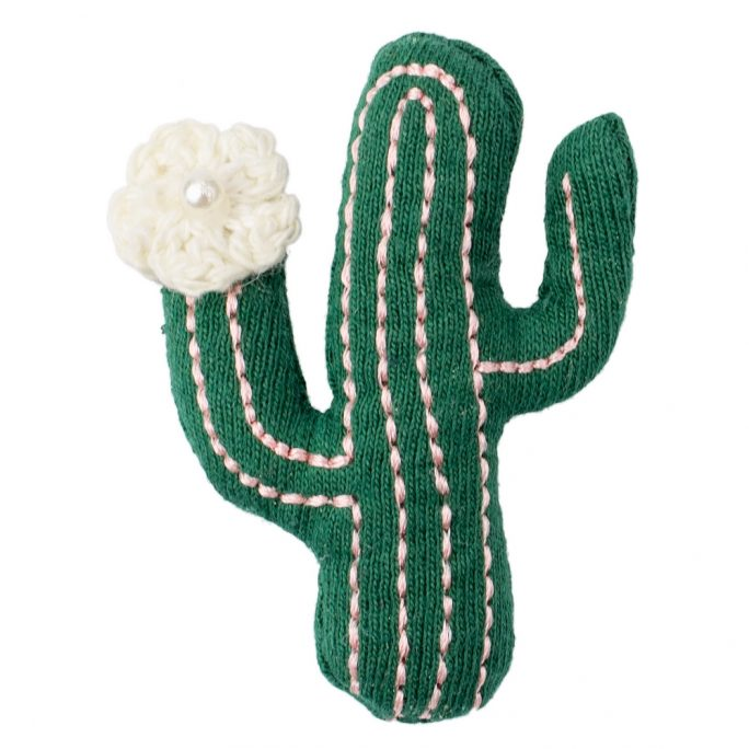 Brooch Flowering Cactus Made With Cotton by JOE COOL