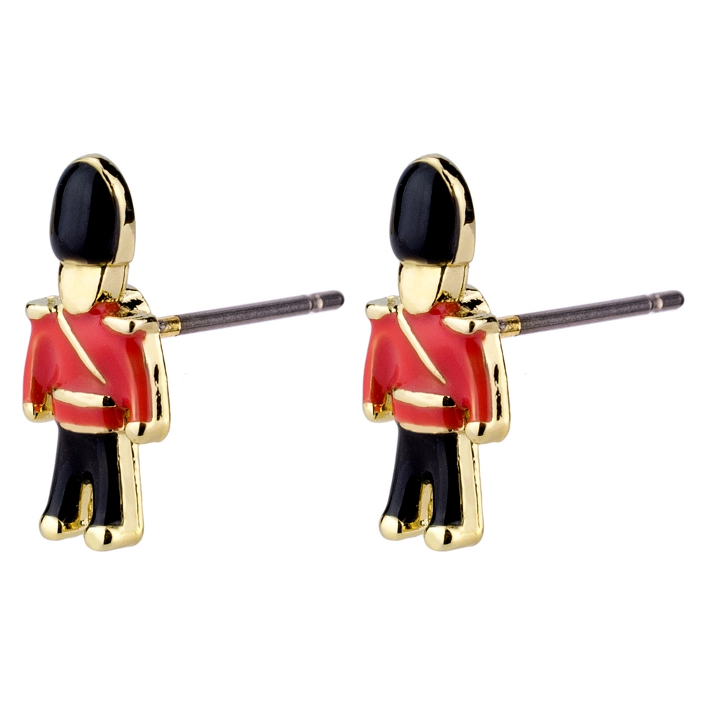 Stud Earring Toy Soldier Made With Titanium by JOE COOL