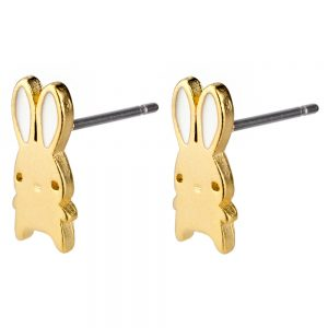 Stud Earring Aegyo Bunny Made With Titanium by JOE COOL