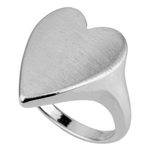 Ring Solid Heart Made With Brass by JOE COOL