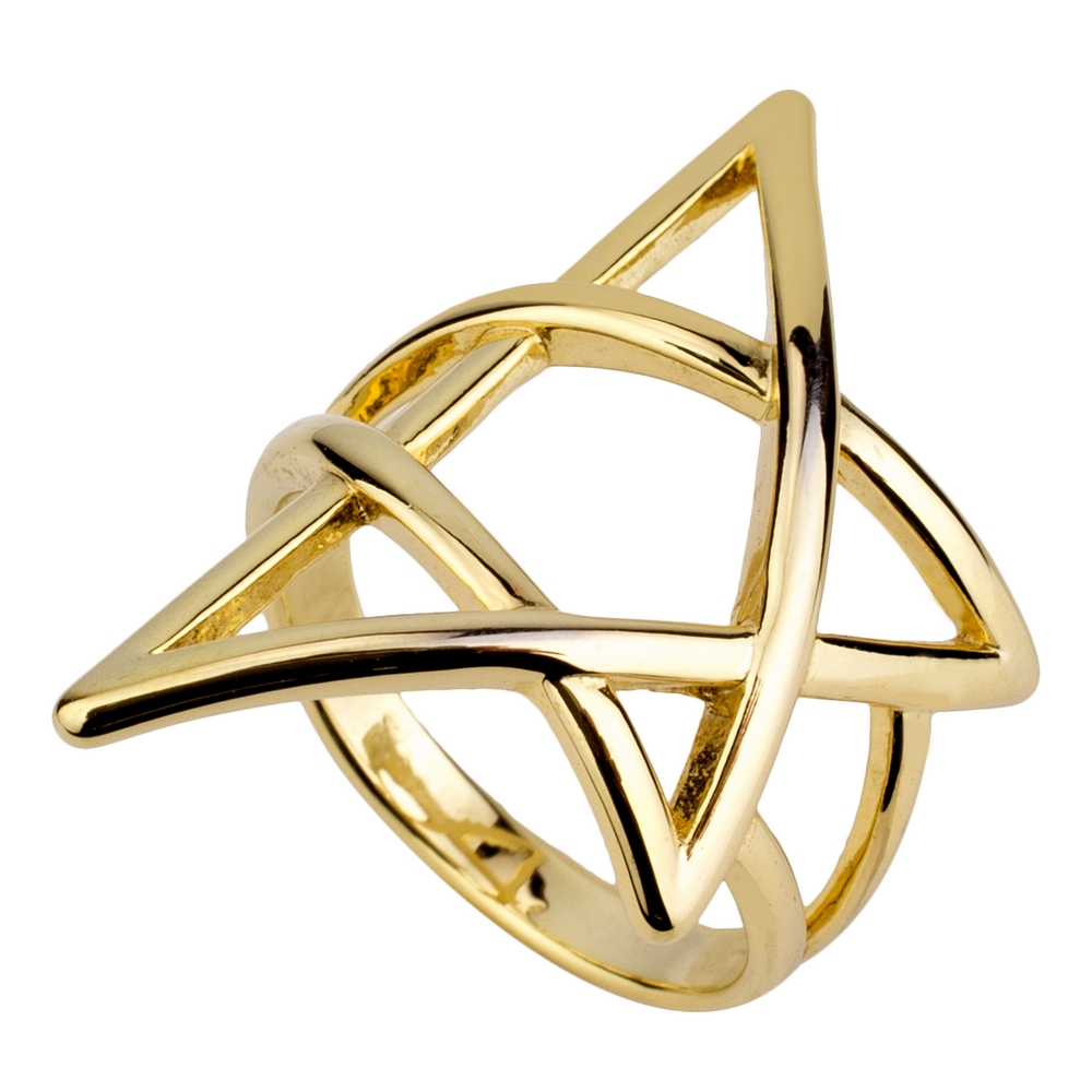 Ring Pentagon Star Made With Brass by JOE COOL