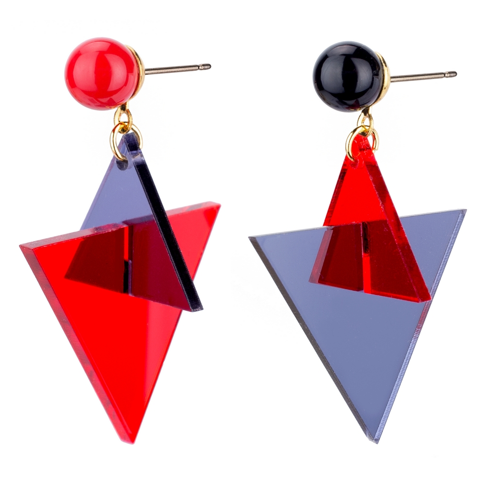 Drop Earring Bold Triangle Made With Acrylic by JOE COOL