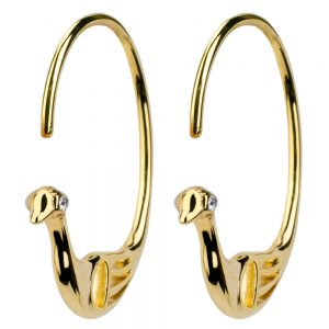 Hoop Earring Sea Bird Made With Brass by JOE COOL