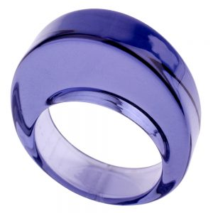 Ring Domed Slice Made With Acrylic by JOE COOL
