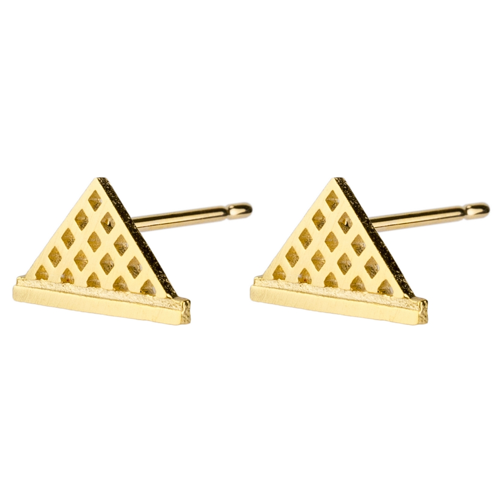 Stud Earring Louvre Museum Made With Tin Alloy by JOE COOL
