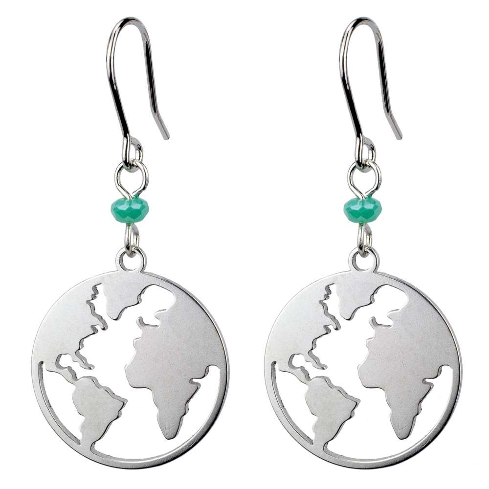 Drop Earring Earth Made With Tin Alloy by JOE COOL