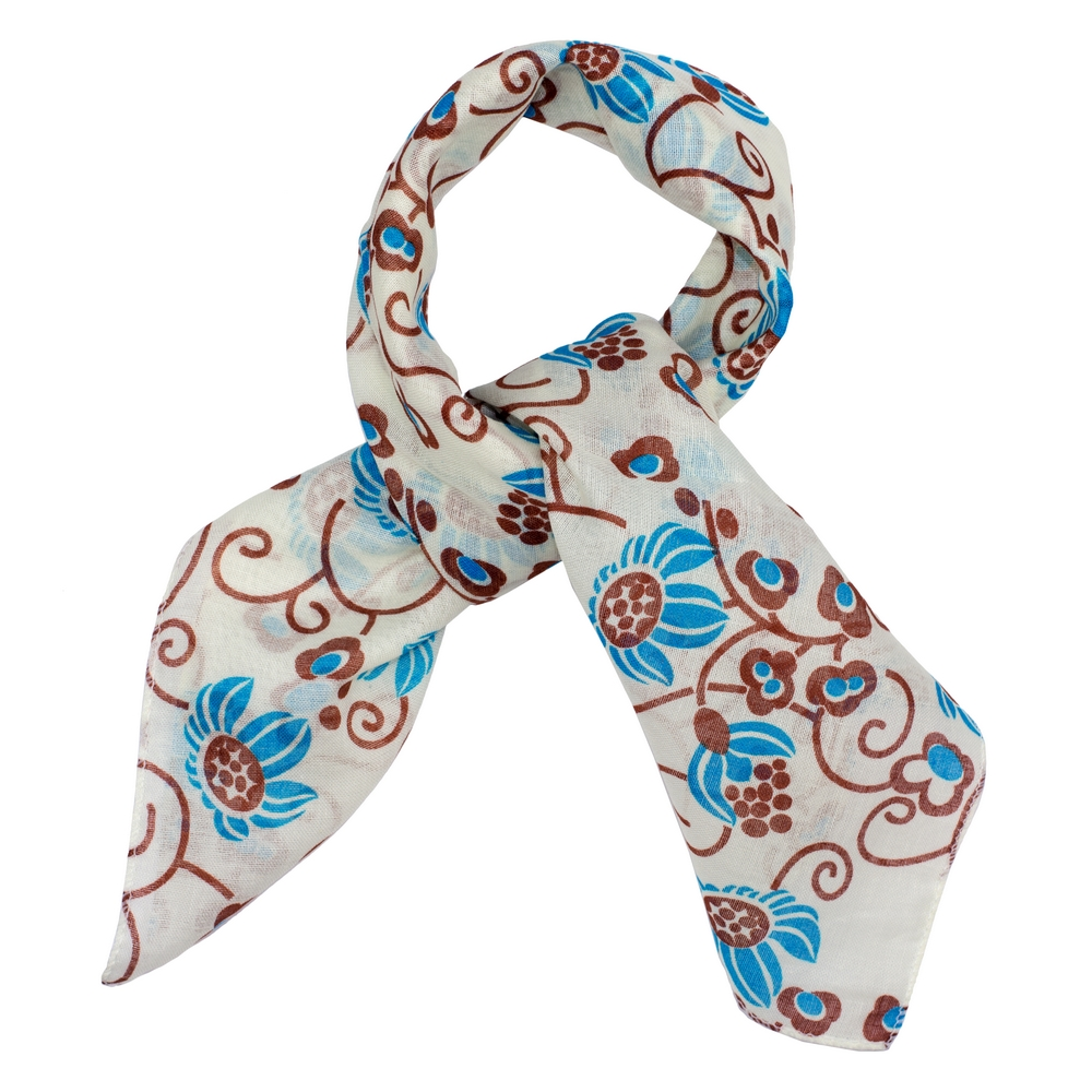 Scarf Kerchief Flower Swirl Made With Cotton by JOE COOL