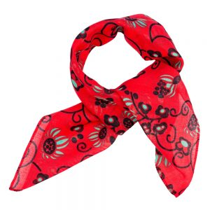 Scarf Kerchief Flower Scroll Made With Cotton by JOE COOL
