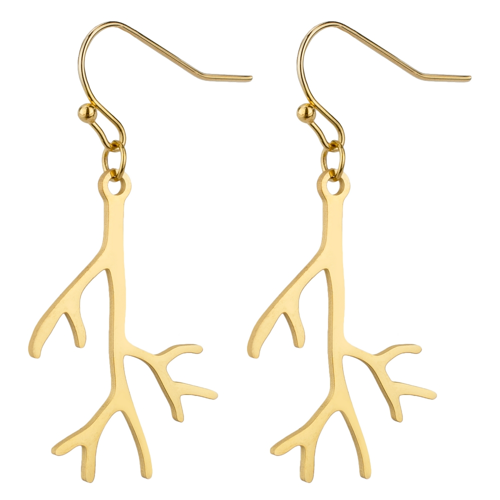 Drop Earring Branching Out Made With Tin Alloy by JOE COOL