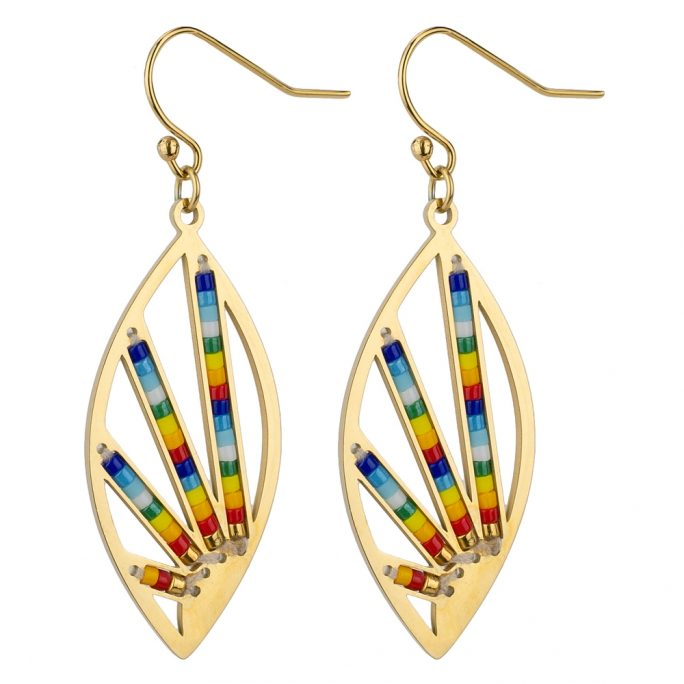 Drop Earring Colour Burst Made With Tin Alloy & Bead by JOE COOL