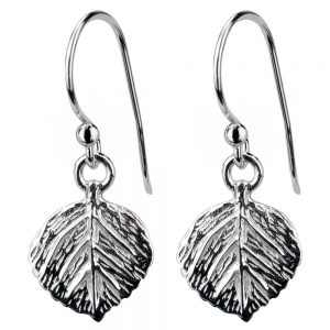 Drop Earring Leaf Made With 925 Silver by JOE COOL