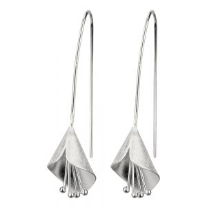 Stud Earring Tulip Made With 925 Silver by JOE COOL