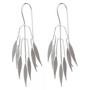 Drop Earring Leafy Eucalyptus Branch Made With 925 Silver by JOE COOL