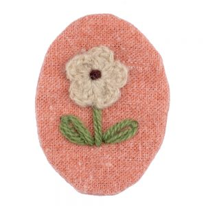 Brooch Crochet Flower Patch Made With Acrylic & Cotton by JOE COOL