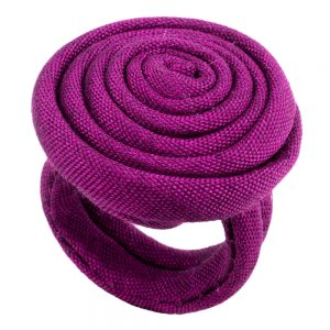 Ring Single Rose Made With Fabric by JOE COOL