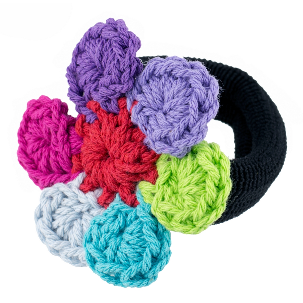 Scrunchie Crochet Flower Made With Acrylic by JOE COOL