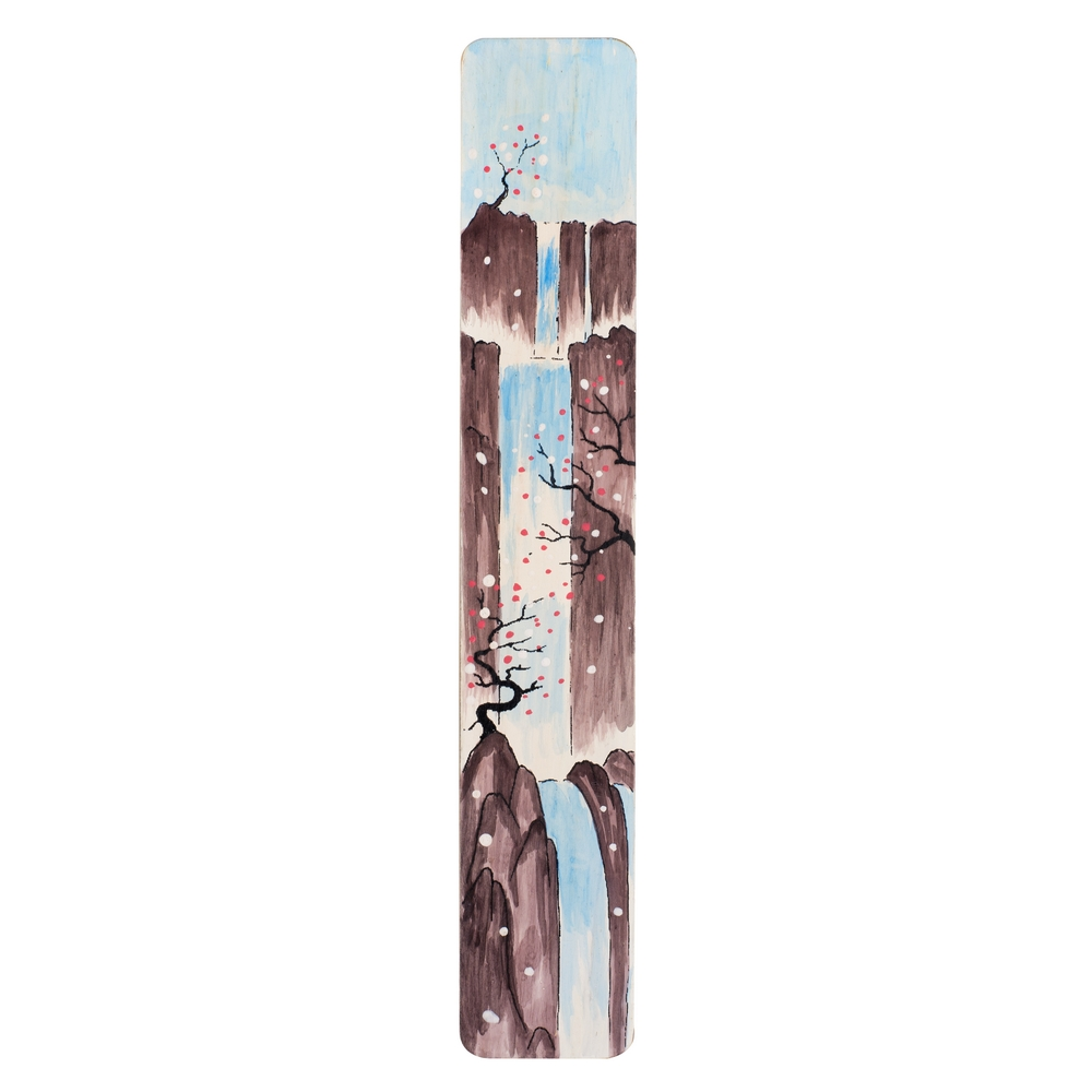 Gift Handpainted Bookmark Waterfall Made With Bamboo by JOE COOL