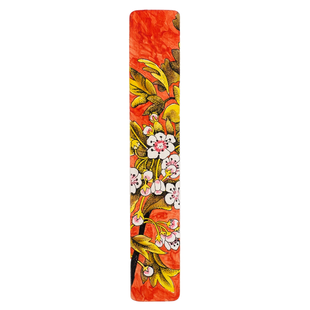 Gift Handpainted Bookmark Oriental Blossom Made With Bamboo by JOE COOL