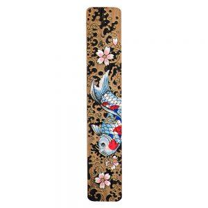 Gift Handpainted Bookmark Koi Fish Made With Bamboo by JOE COOL