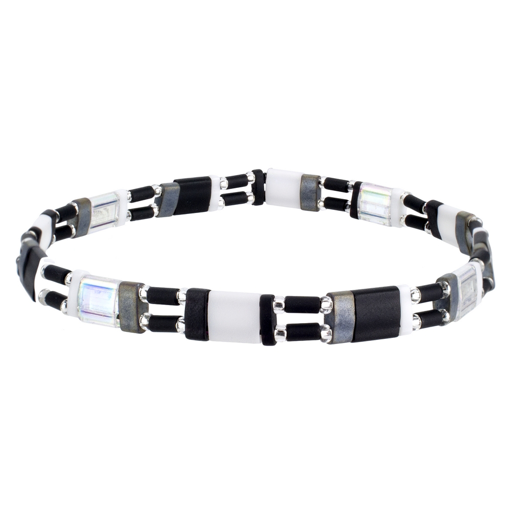 Bracelet Tila Monochrome Made With Bead by JOE COOL