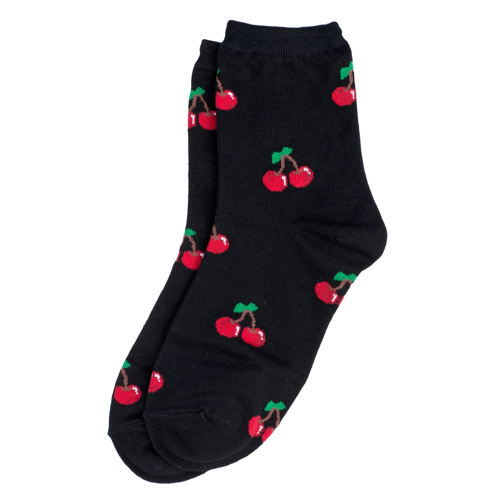 Socks Cherry Pair Made With Cotton & Spandex by JOE COOL